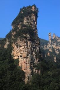十里画廊の岩峰の写真素材 [FYI03259371]
