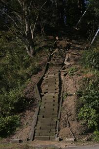 新潟中越地震 被災した神社の階段の写真素材 [FYI03260358]
