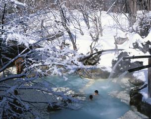 白骨温泉 泡の湯の冬の写真素材 [FYI03263612]