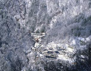 白骨温泉の冬の写真素材 [FYI03263620]