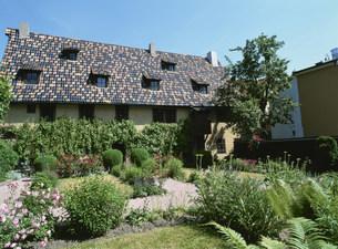 バッハの家と庭の写真素材 [FYI03264434]