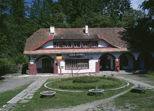 小さな駅舎の写真素材 [FYI03264682]