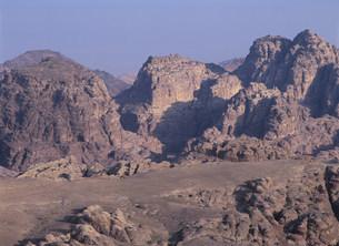 ペトラの山と谷の写真素材 [FYI03265673]