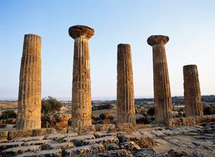エルコレ神殿夕景 ヘラクレスの写真素材 [FYI03266228]