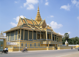 王宮 プノンペン 1月 カンボジアの写真素材 [FYI03267078]