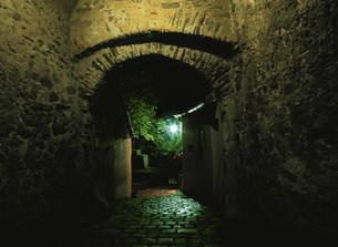 ヴァッハウ渓谷小路夜景の写真素材 [FYI03267251]