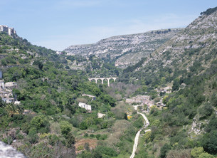 イブラ地区からの眺めの写真素材 [FYI03267356]