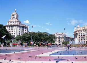 カタルーニャ広場の写真素材 [FYI03267865]