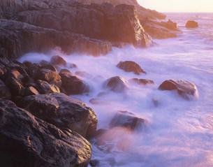 朝の足摺岬の海の写真素材 [FYI03268392]
