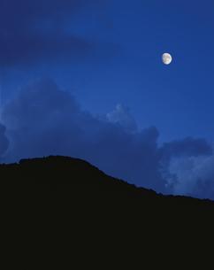 敦賀の月 敦賀市 月合成10月 福井県の写真素材 [FYI03269001]