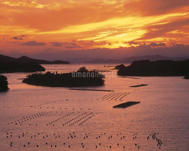 英虞湾の夕景 桐山展望台の写真素材 [FYI03269516]