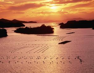 桐山展望台より望む英虞湾の夕景の写真素材 [FYI03269520]