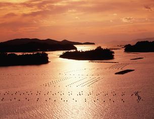 桐山展望台より望む英虞湾の夕景の写真素材 [FYI03269521]