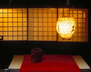 鮎茶屋の夕景の写真素材 [FYI03270594]