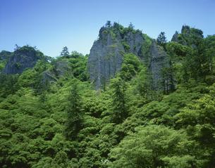新緑の立久恵峡 出雲市  5月の写真素材 [FYI03270875]