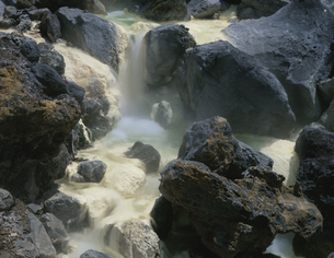 温泉の源泉 一関市 須川温泉の写真素材 [FYI03270887]
