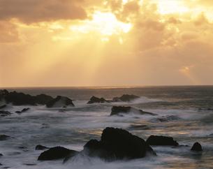 越前海岸の夕景 越廼村 11月 福井県の写真素材 [FYI03270923]