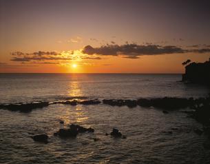 五浦海岸朝景 北茨城市 1月 茨城県の写真素材 [FYI03270924]