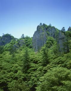 新緑の立久恵峡 島根県の写真素材 [FYI03270958]