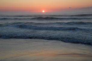 夜明けの海の写真素材 [FYI03272644]