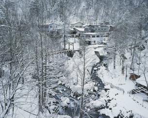 冬の白骨温泉の写真素材 [FYI03273380]