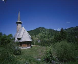ボルシャ村の木の教会の写真素材 [FYI03275893]
