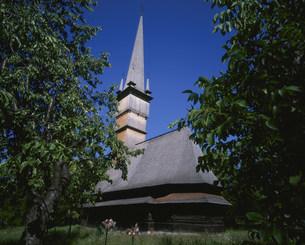 シュルディシュティの木の教会の写真素材 [FYI03275894]