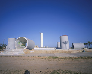 サハラ緑化計画モニュメントトリポリの写真素材 [FYI03276220]