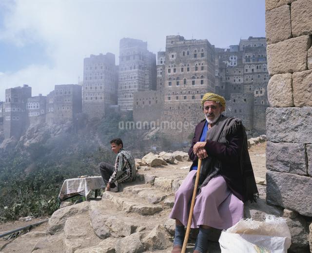 山岳部族 ハジャラの老人の写真素材 [FYI03276728]