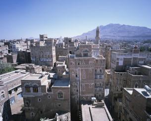 サナア旧市街展望の写真素材 [FYI03276739]