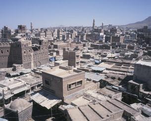 サナア旧市街展望の写真素材 [FYI03276741]