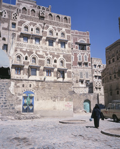 サナア旧市街の写真素材 [FYI03276746]