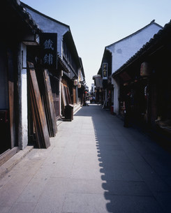 周荘鎮の貞豊街の写真素材 [FYI03277259]