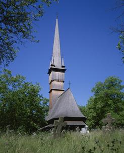 木の教会 シュルディシュティ  ルーマニアの写真素材 [FYI03277621]