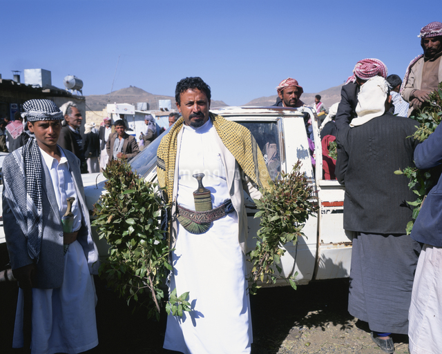 カート市 ダラの町にて 2月 イエメンの写真素材 [FYI03277807]