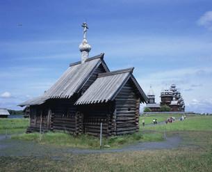 ラザロ復活教会(キジ島)の写真素材 [FYI03278019]