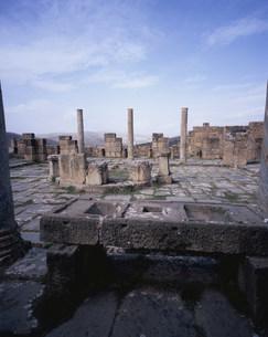 ジェミラ考古遺跡(コシニウス市場)の写真素材 [FYI03278075]