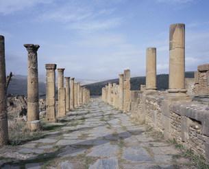 ジェミラ考古遺跡(カルド通り)の写真素材 [FYI03278077]