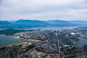 上空からのバンクーバーの風景の写真素材 [FYI03278840]