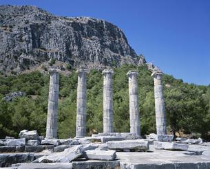 アテナ神殿 プリエネ遺跡の写真素材 [FYI03280719]