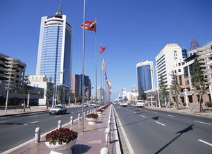 経済開発特区の洗練された街並み 大連 中国の写真素材 [FYI03282220]