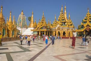ヤンゴンのシュエダゴォン・パヤーの写真素材 [FYI03285308]