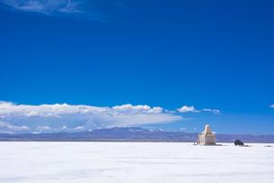 乾季のウユニ塩湖の写真素材 [FYI03285478]