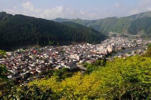 群上八幡城天守閣からの街並み風景の写真素材 [FYI03286155]