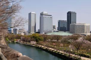 大阪ビジネスパークのビル群の写真素材 [FYI03286256]