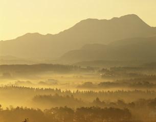朝霧の飯田高原の写真素材 [FYI03286662]