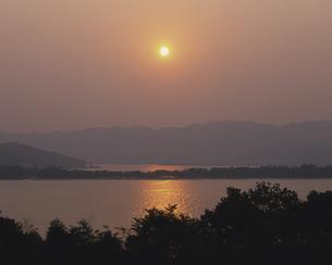 天橋立と宮津湾夕景の写真素材 [FYI03286817]