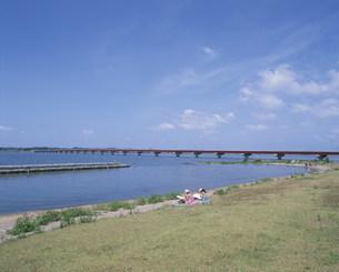 霞ヶ浦大橋の写真素材 [FYI03287133]