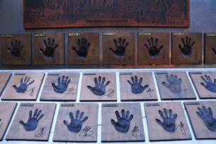横浜ベイスターズ選手の手形の写真素材 [FYI03288315]