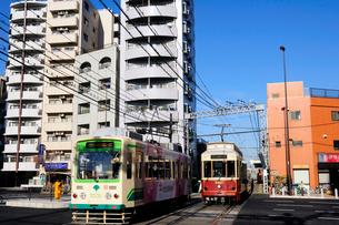都電荒川線,新庚申塚駅付近の写真素材 [FYI03288581]